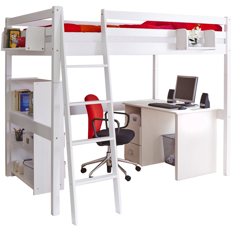 doppel hochschl fer hochbett tanja buche wei kaufen bei obi. Black Bedroom Furniture Sets. Home Design Ideas