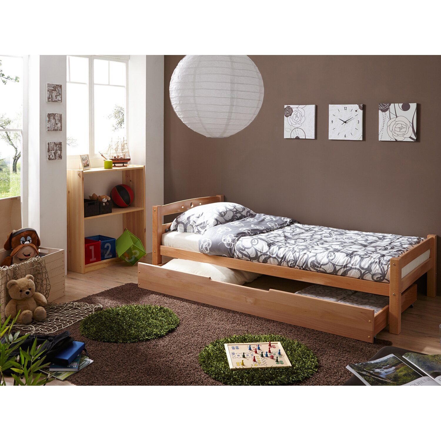 einzelbett mit schubkasten lupo buche natur kaufen bei obi. Black Bedroom Furniture Sets. Home Design Ideas