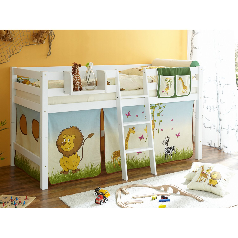 hochbett tipsi buche wei safari kaufen bei obi. Black Bedroom Furniture Sets. Home Design Ideas