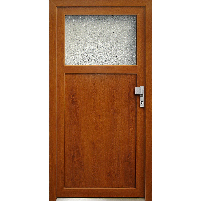 Kunststoff-Nebeneingangstür K 501-88 Golden Oak 88 cm x 198 cm Anschlag Rechts | Baumarkt > Modernisieren und Baün > Türen | PANTO