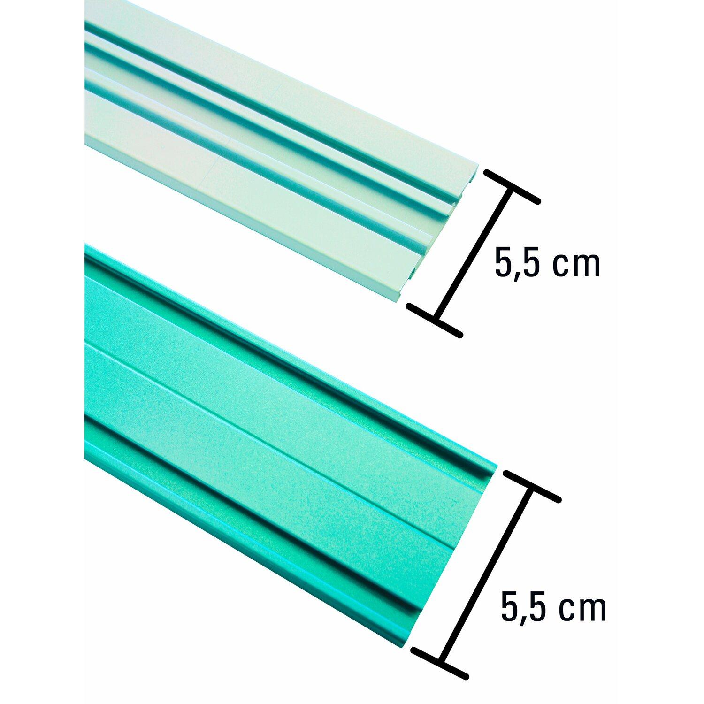 Erstaunlich Gardinia Aluminium-Vorhangschiene 2-läufig Weiß 150 cm kaufen bei OBI AX81
