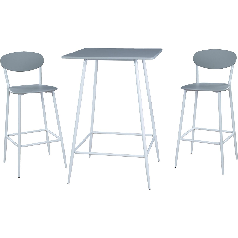reality bar set lina 3 teilig wei grau kaufen bei obi. Black Bedroom Furniture Sets. Home Design Ideas