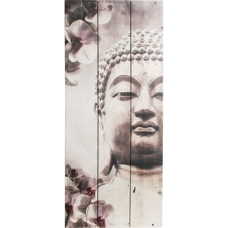 Holzbild Buddha 30 cm x 70 cm Preisvergleich