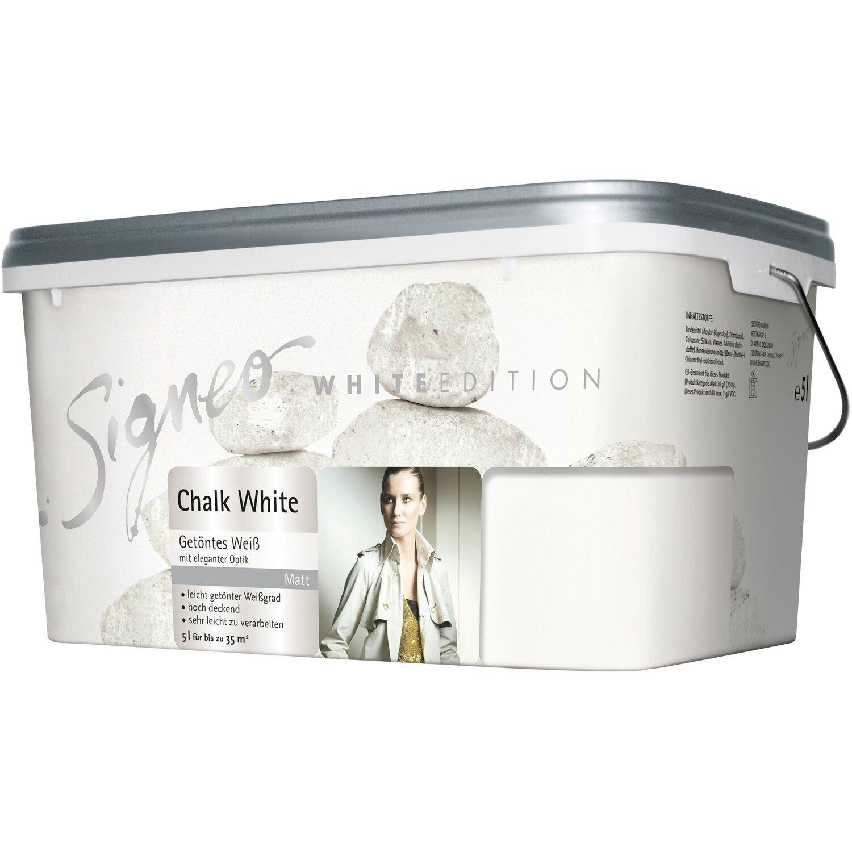 signeo white edition chalk white 5 l kaufen bei obi. Black Bedroom Furniture Sets. Home Design Ideas