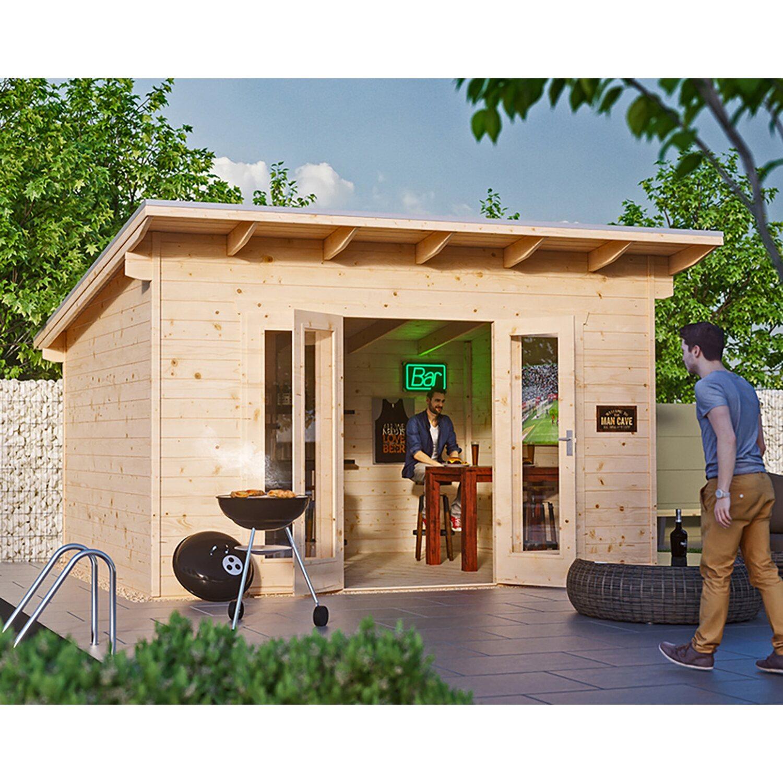 skan holz gartenhaus ostende 2 natur b x t 400 cm x 300 cm kaufen bei obi. Black Bedroom Furniture Sets. Home Design Ideas
