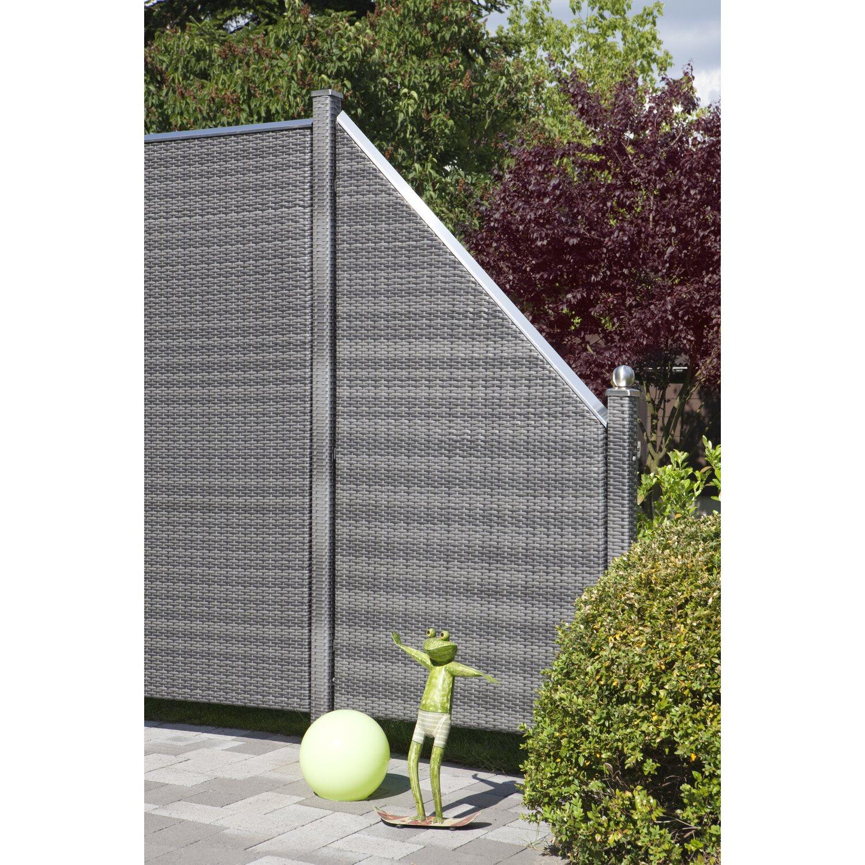 Zaun Zubehör Design-Aufsatz Longlife Aluminium 180 cm für Rahmen 5,6 ...