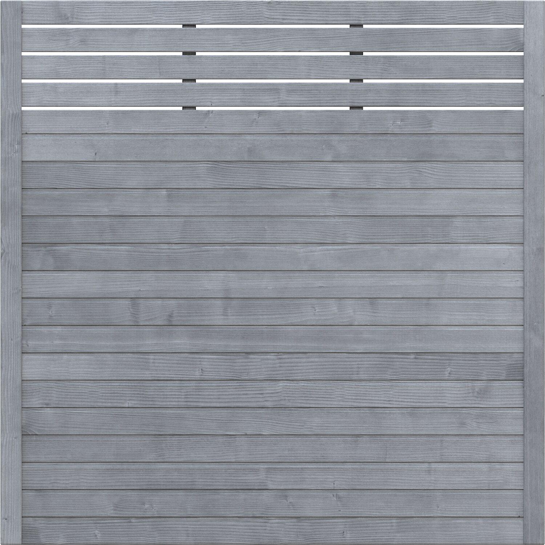 Sichtschutzzaun Element Neo Design Mit Gitter Grau 179 Cm X 179 Cm