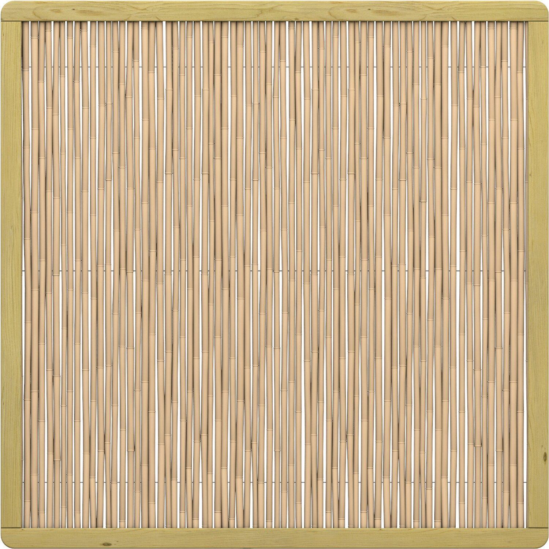Sichtschutzzaun Element Bambu Rechteck 179 X 179 Cm Kaufen Bei Obi