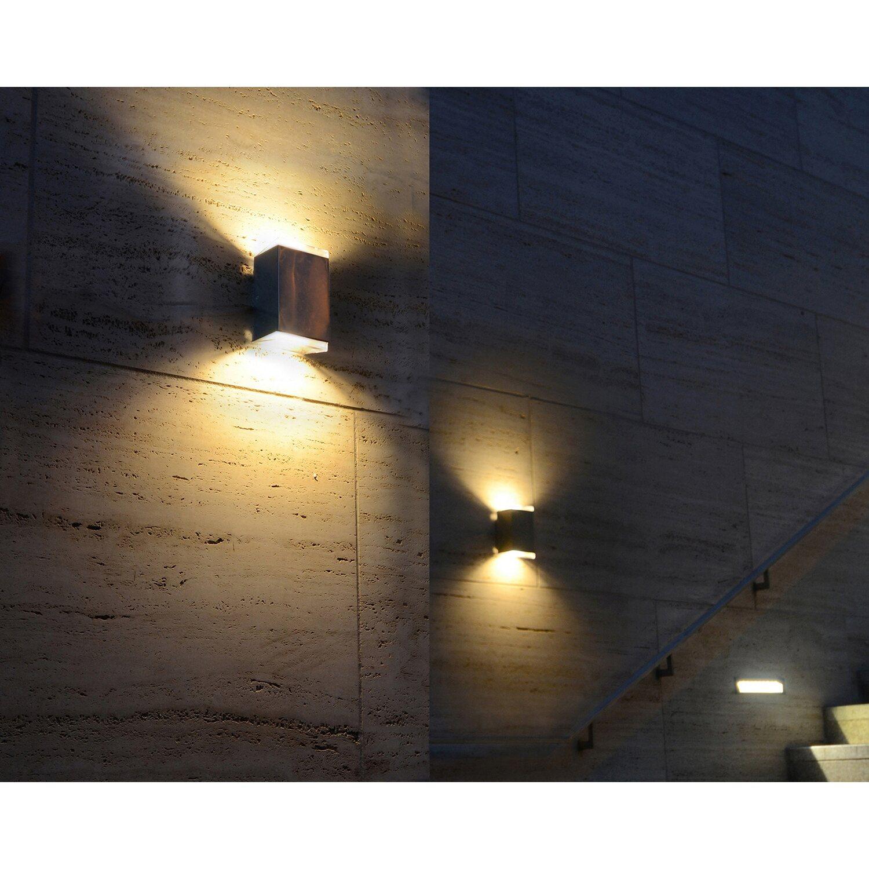 Lutec LED-Außenwandleuchte Up- & Downlight Path Edelstahl EEK: A+ | Lampen > Aussenlampen > Wandleuchten | Lutec