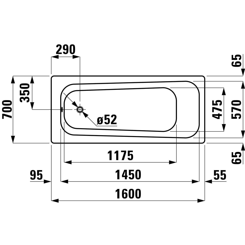 Favorit Sanicomfort Stahl-Badewanne 160 cm x 70 cm Weiß kaufen bei OBI LE88
