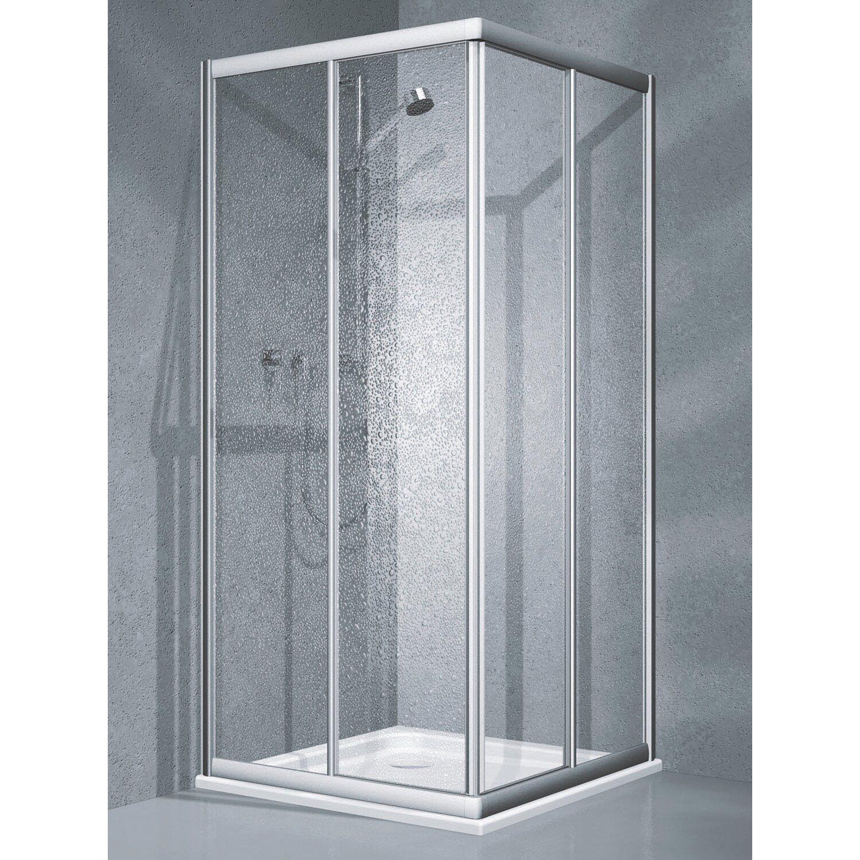 eckdusche schiebet r twiggy top 2 teilig 80 cm x 80 cm x 185 cm silber matt kaufen bei obi. Black Bedroom Furniture Sets. Home Design Ideas