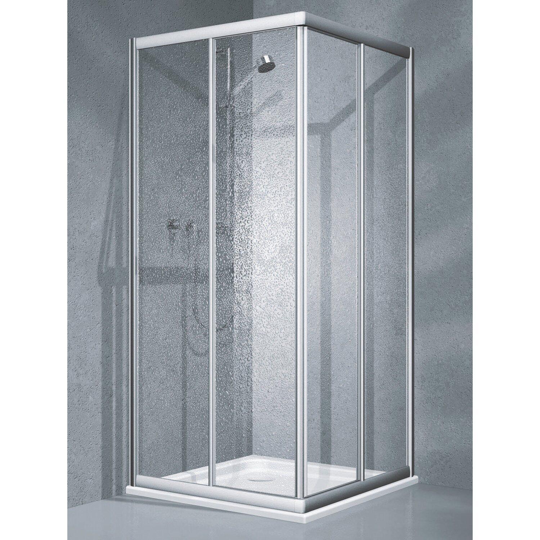 eckdusche schiebet r twiggy top 2 teilig 90 cm x 90 cm x 185 cm silber matt kaufen bei obi. Black Bedroom Furniture Sets. Home Design Ideas