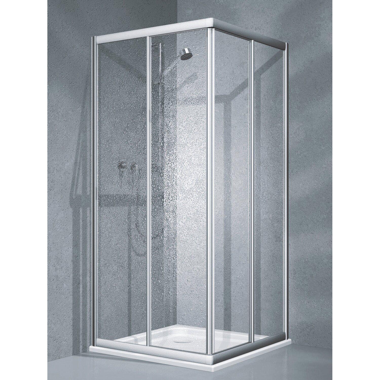 eckdusche schiebet r twiggy top 3 teilig 90 cm x 90 cm x 185 cm silber matt kaufen bei obi. Black Bedroom Furniture Sets. Home Design Ideas