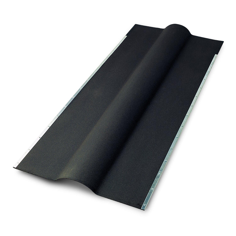 Gutta Bitumenwellplatten Firsthaube Schwarz 105 cm x 45 cm