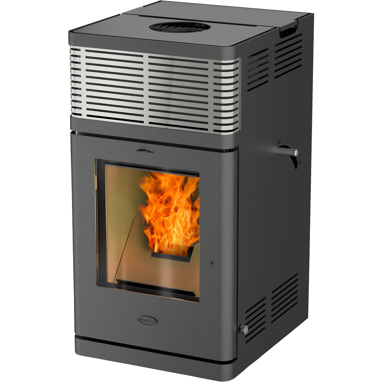 Fireplace Pellettofen Gravio Schwarz Eek A Kaufen Bei Obi