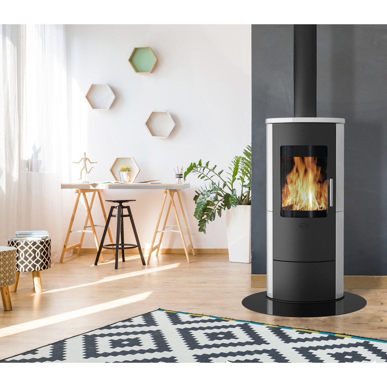 Fireplace Kaminofen Roma 2 Keramik Weissglanz Schwarz Eek A Kaufen