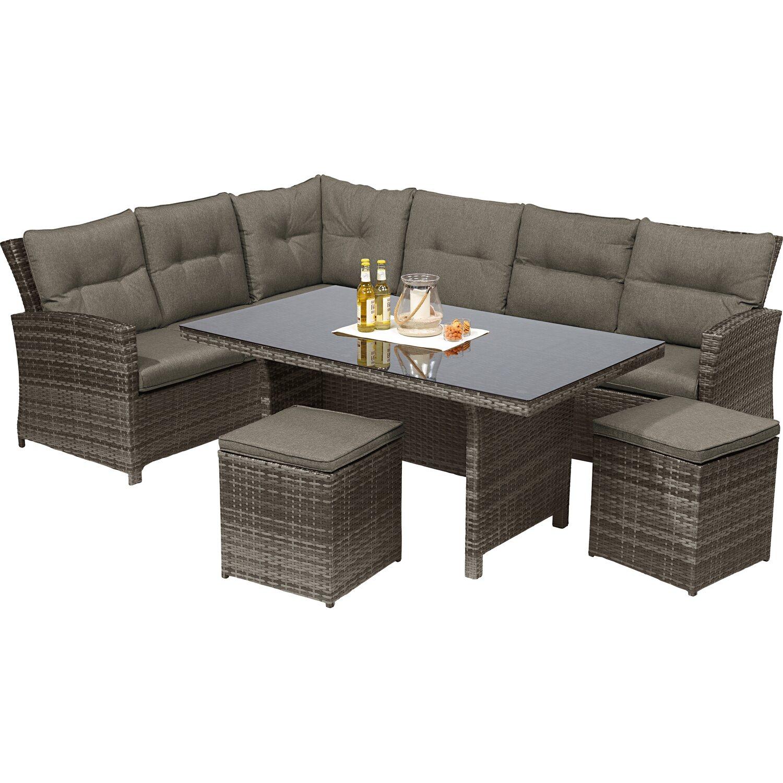 obi esstisch lounge gruppe vermont ecke links shadow earth 5 tlg kaufen bei obi. Black Bedroom Furniture Sets. Home Design Ideas