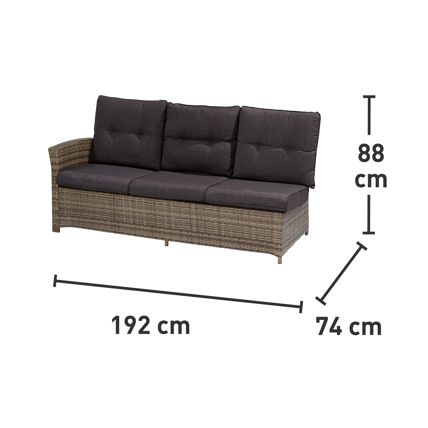 OBI Esstisch Lounge-Gruppe Vermont Ecke Rechts Shadow Dark Night 5 ...