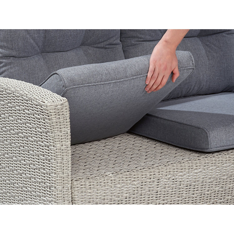obi lounge gartensofa vermont cloud fossil polyrattan 3 sitzer kaufen bei obi. Black Bedroom Furniture Sets. Home Design Ideas
