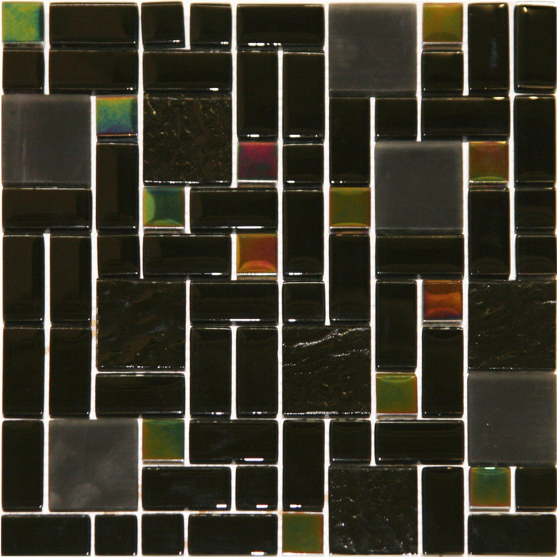 Sonstige Glasmosaikmatte Black Rainbow 30 cm x 30 cm