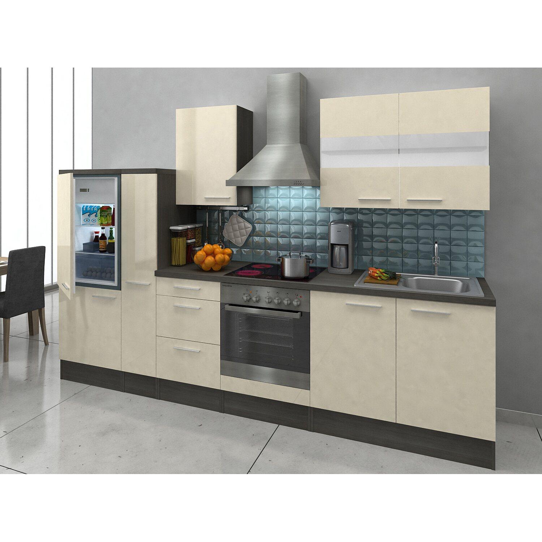 respekta premium k chenzeile rp300evac 300 cm vanille eiche grau nachbildung kaufen bei obi. Black Bedroom Furniture Sets. Home Design Ideas