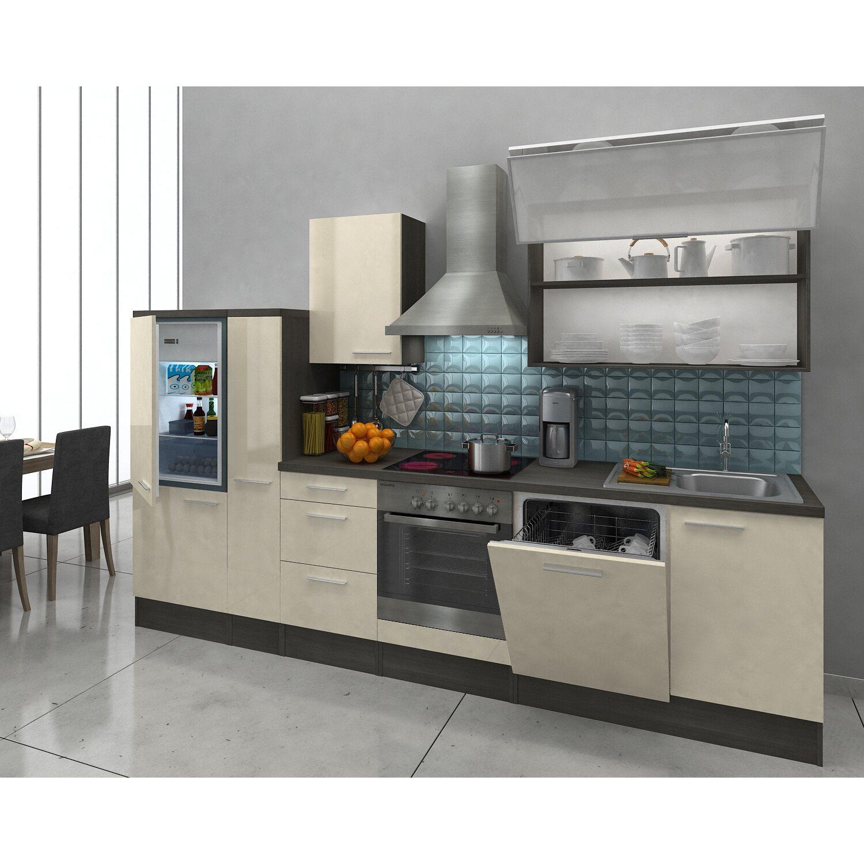 Respekta Premium Küchenzeile RP310EVAC 310 cm Vanille-Eiche Grau Nachbildung