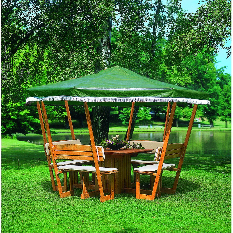 Pavillon rosenheim mit gr nem dach kaufen bei obi for Pavillon en bois pour jardin