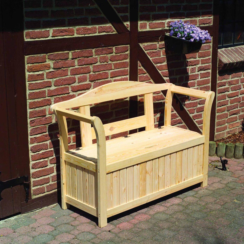 Friesen-Gartenbank mit Kissenbox 2-Sitzer kaufen bei OBI
