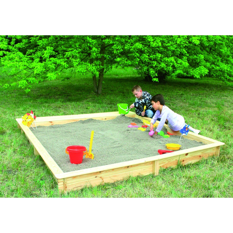 Sandkasten Yanick 225 cm x 225 cm | Kinderzimmer > Spielzeuge > Sandkästen | Promadino