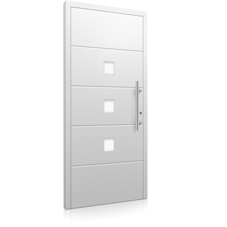aluminium haust r moderno m380 p 110 x 210 cm wei anschlag rechts kaufen bei obi. Black Bedroom Furniture Sets. Home Design Ideas