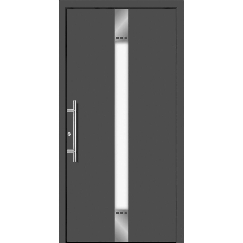 Aluminium-Haustür Moderno M440/B 110 x 210 cm Anthrazit Metallic ...