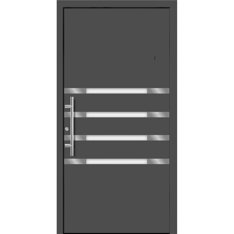 aluminium haust r moderno m450 p 110 x 210 cm anthrazit metallic anschlag links kaufen bei obi. Black Bedroom Furniture Sets. Home Design Ideas
