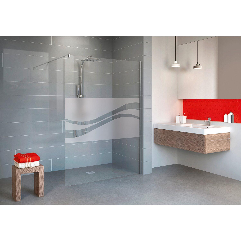 schulte duschwand walk in alexa style 2 0 chromoptik dekor liane 120 cm kaufen bei obi. Black Bedroom Furniture Sets. Home Design Ideas