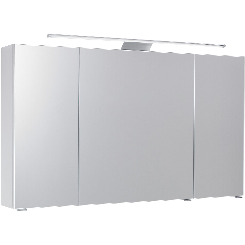 Pelipal Spiegelschrank 120 cm Quantum 3 Weiß Hochglanz EEK: A-A++