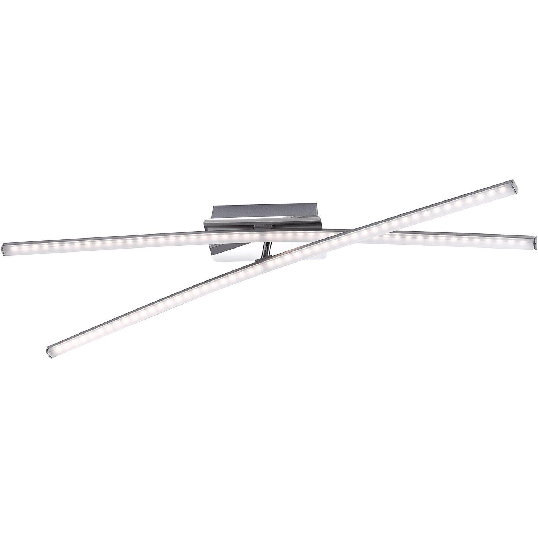 led deckenleuchte simon 2 flammig 80 5 cm stahl eek a kaufen bei obi. Black Bedroom Furniture Sets. Home Design Ideas