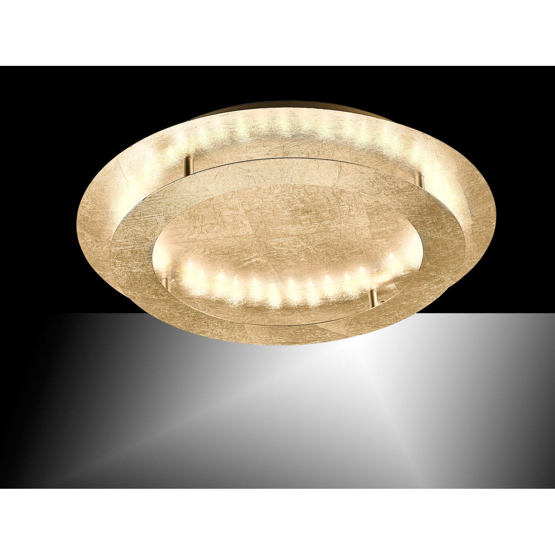 Paul Neuhaus LED Deckenleuchte Nevis Gold Ø 50 cm EEK: B