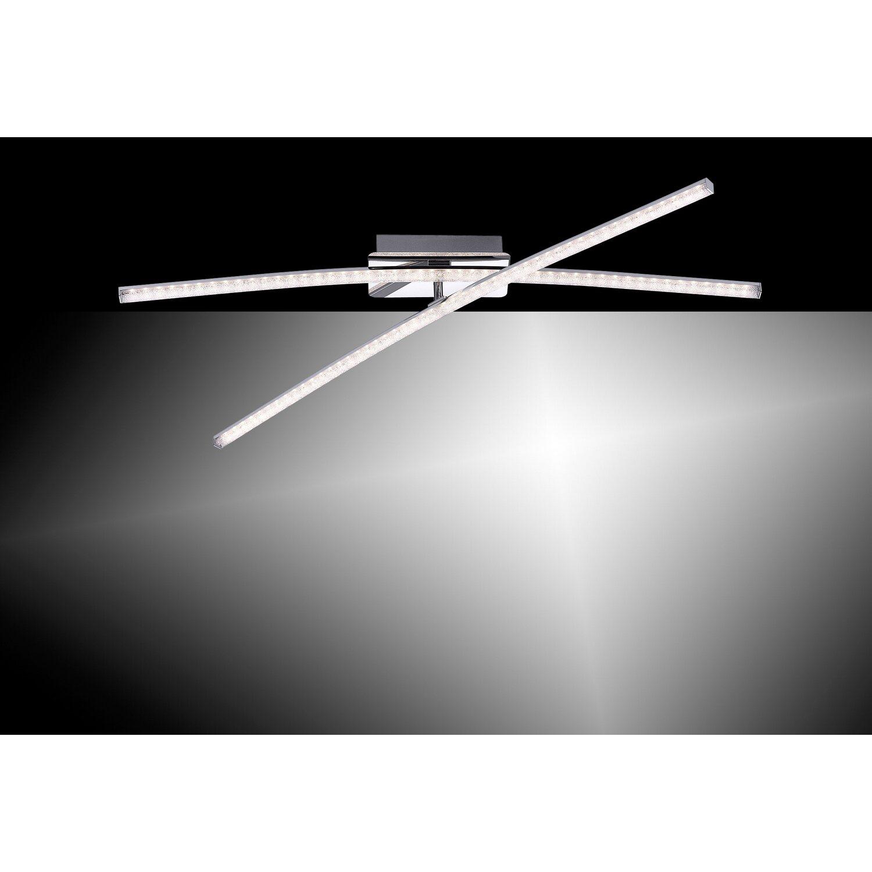 LED-Deckenleuchte Simon 2-flammig 80,5 cm Chrom EEK: A+ kaufen bei OBI