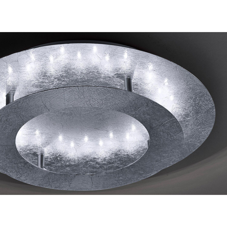 paul neuhaus led deckenleuchte nevis silber 40 cm eek b kaufen bei obi. Black Bedroom Furniture Sets. Home Design Ideas