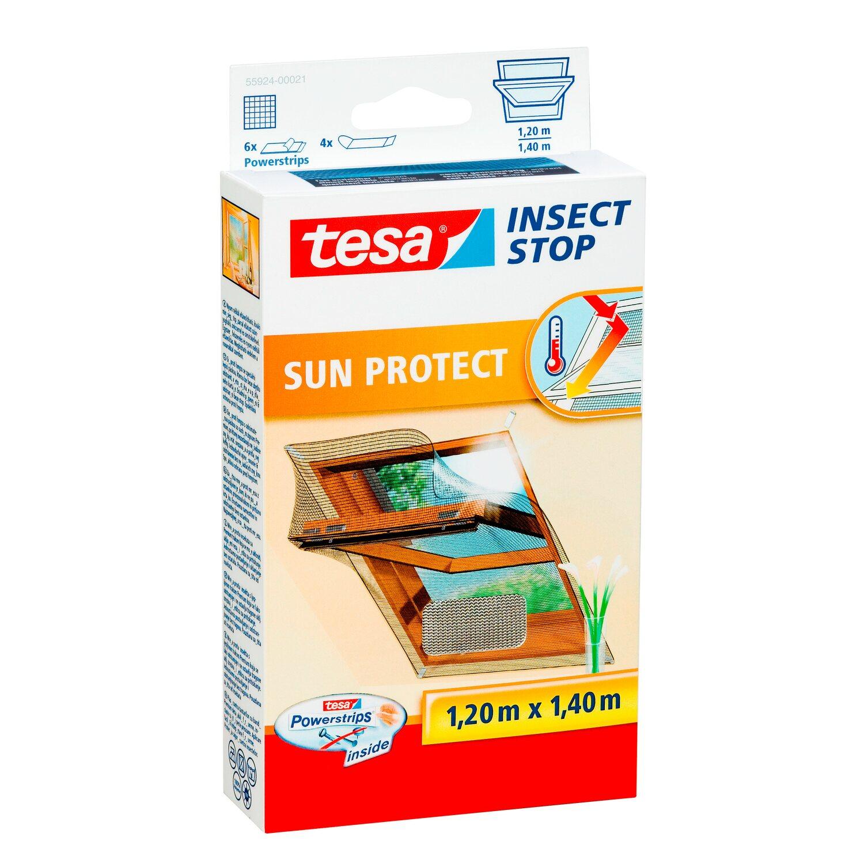 tesa Fliegengitter Dachfenster mit Sonnenschutz 140 cm x 120 cm