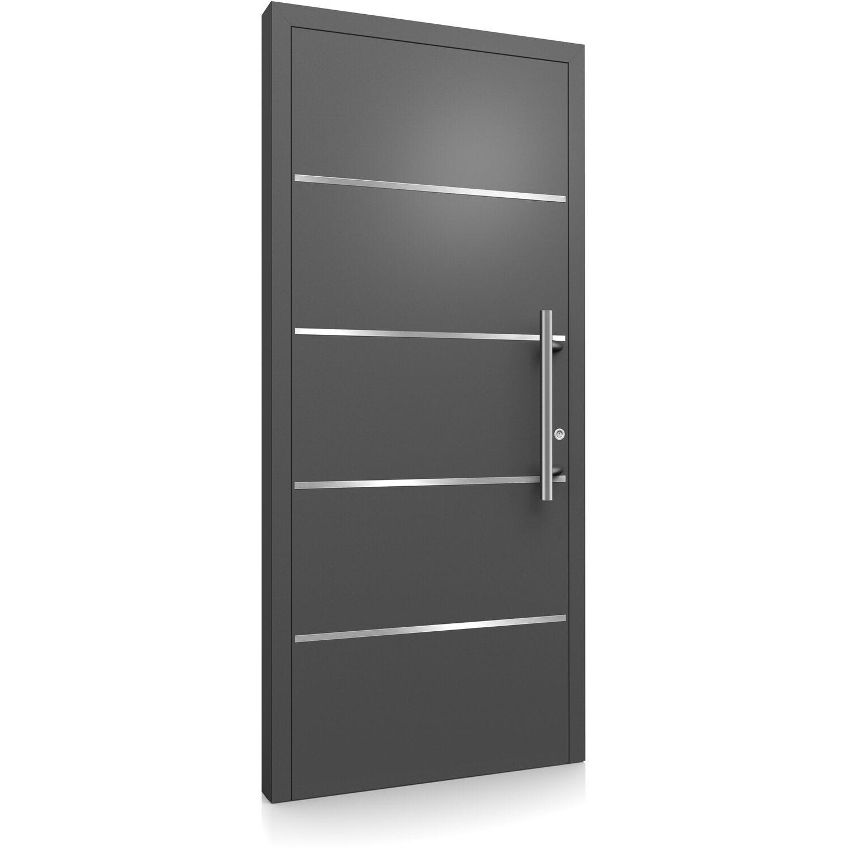 aluminium haust r modell moderno m460 b 110 x 210 cm anthrazit metallic rechts kaufen bei obi. Black Bedroom Furniture Sets. Home Design Ideas
