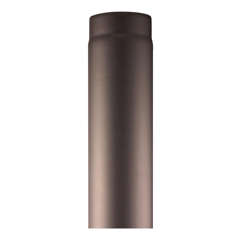 OBI Rauchrohr Ø 150 mm 50 cm Schwarz