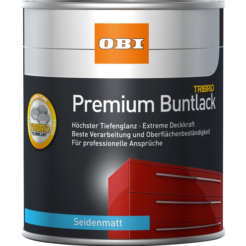 OBI Premium Buntlack Tribrid Silbergrau Seidenmatt 125 Ml