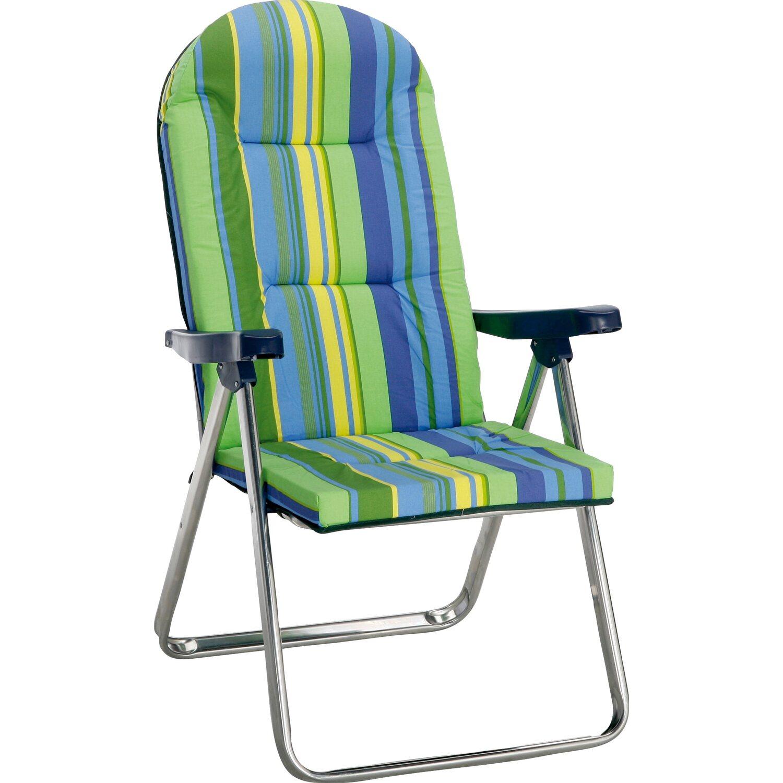 alu klappsessel nizza silber gr n blau kaufen bei obi. Black Bedroom Furniture Sets. Home Design Ideas