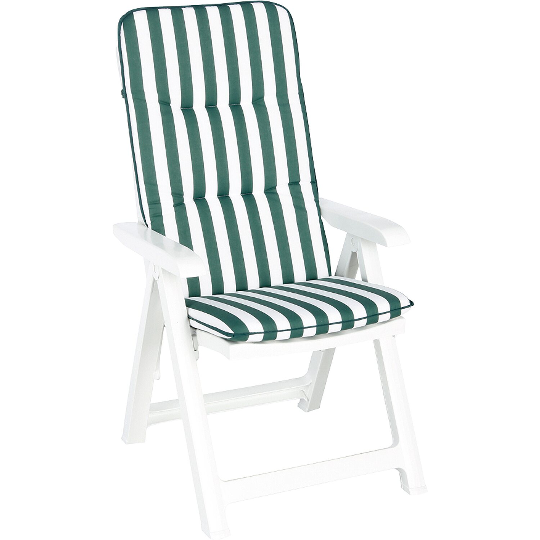 best freizeitmöbel Klappsessel weiß aus Kunststoff inkl. Auflage