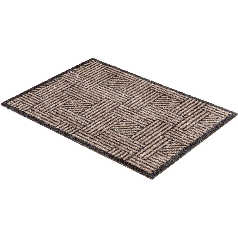 sch ner wohnen sauberlaufmatte manhattan 50x70 cm streifengitter beige anthrazit kaufen bei obi. Black Bedroom Furniture Sets. Home Design Ideas