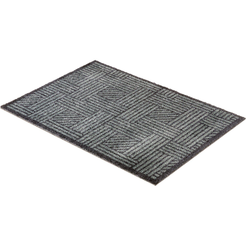 sch ner wohnen sauberlaufmatte manhattan 50x70 cm streifengitter grau anthrazit kaufen bei obi. Black Bedroom Furniture Sets. Home Design Ideas