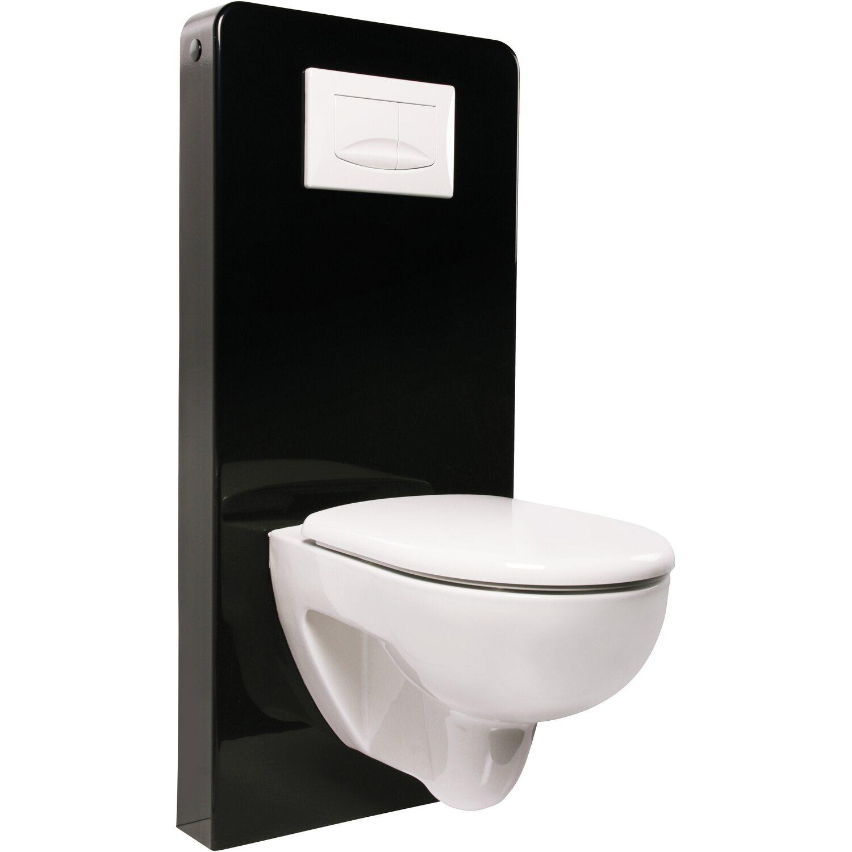 Spülkasten Vorwandelement für Wand WC Glas Sanitärmodul Montageelement