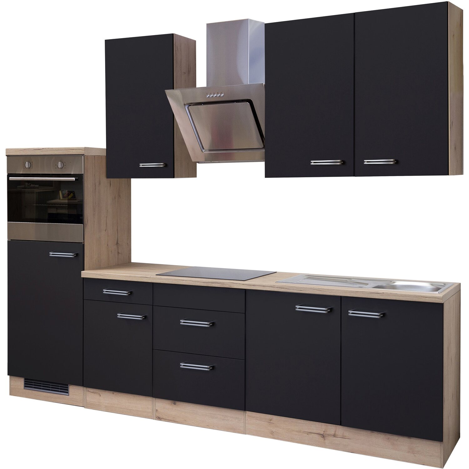 flex well exclusiv k chenzeile milano 270 cm anthrazit san. Black Bedroom Furniture Sets. Home Design Ideas