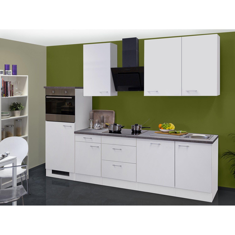 flex well classic k chenzeile lucca 280 cm wei kaufen bei obi. Black Bedroom Furniture Sets. Home Design Ideas
