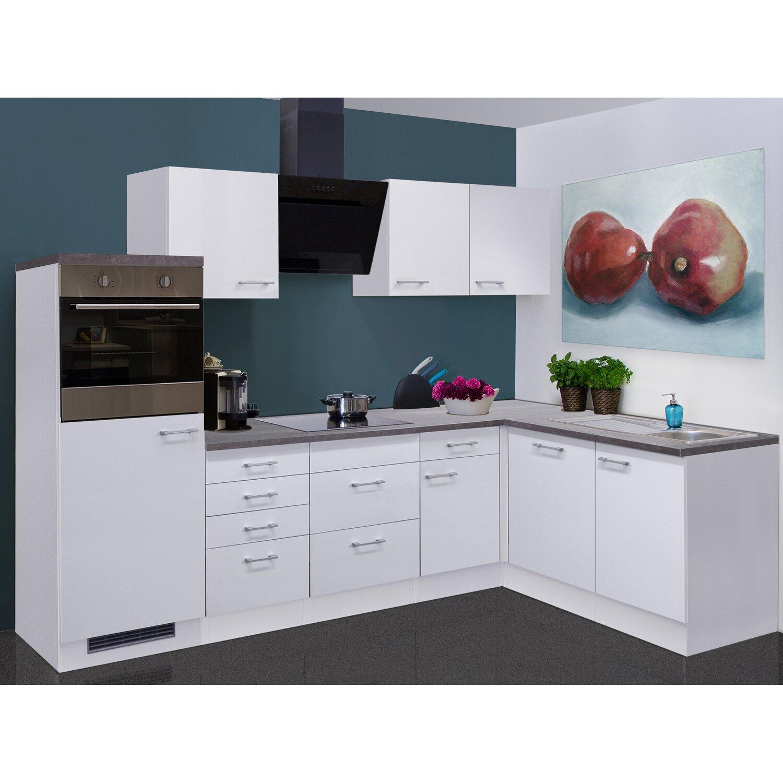 Flex-Well Winkelküche/L-Küche Lucca 280 cm Weiß Caledonia | Küche und Esszimmer > Küchen > Winkelküchen | Flex-Well Classic